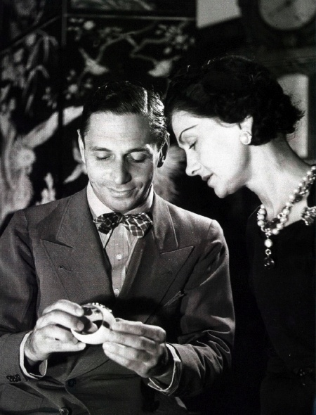 Chanel with Duke Fulco di Verdura who began his career as Chanel's head jewelry designer.