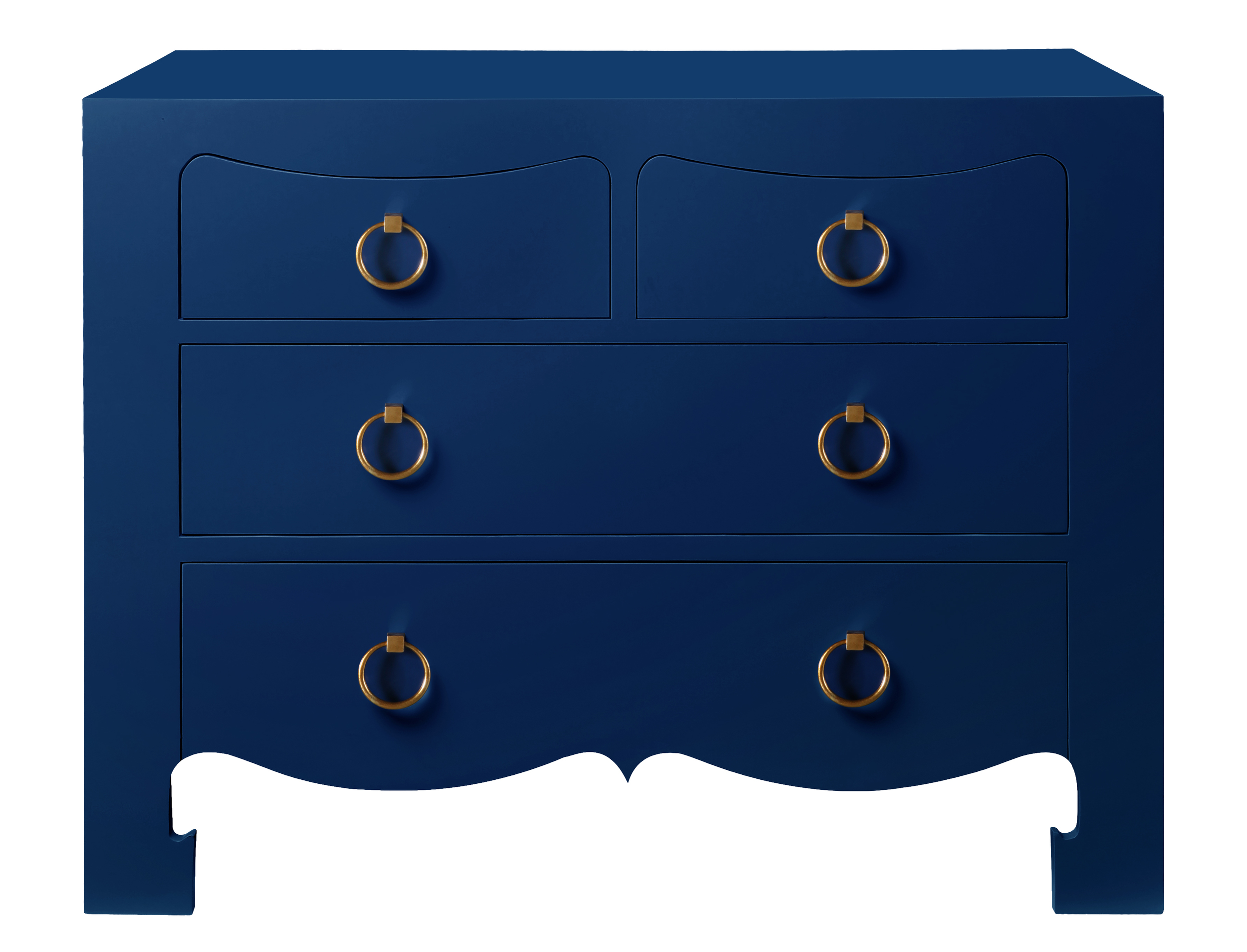 Jackie Chest from Bungalow 5 in Rich Navy Lacquer.