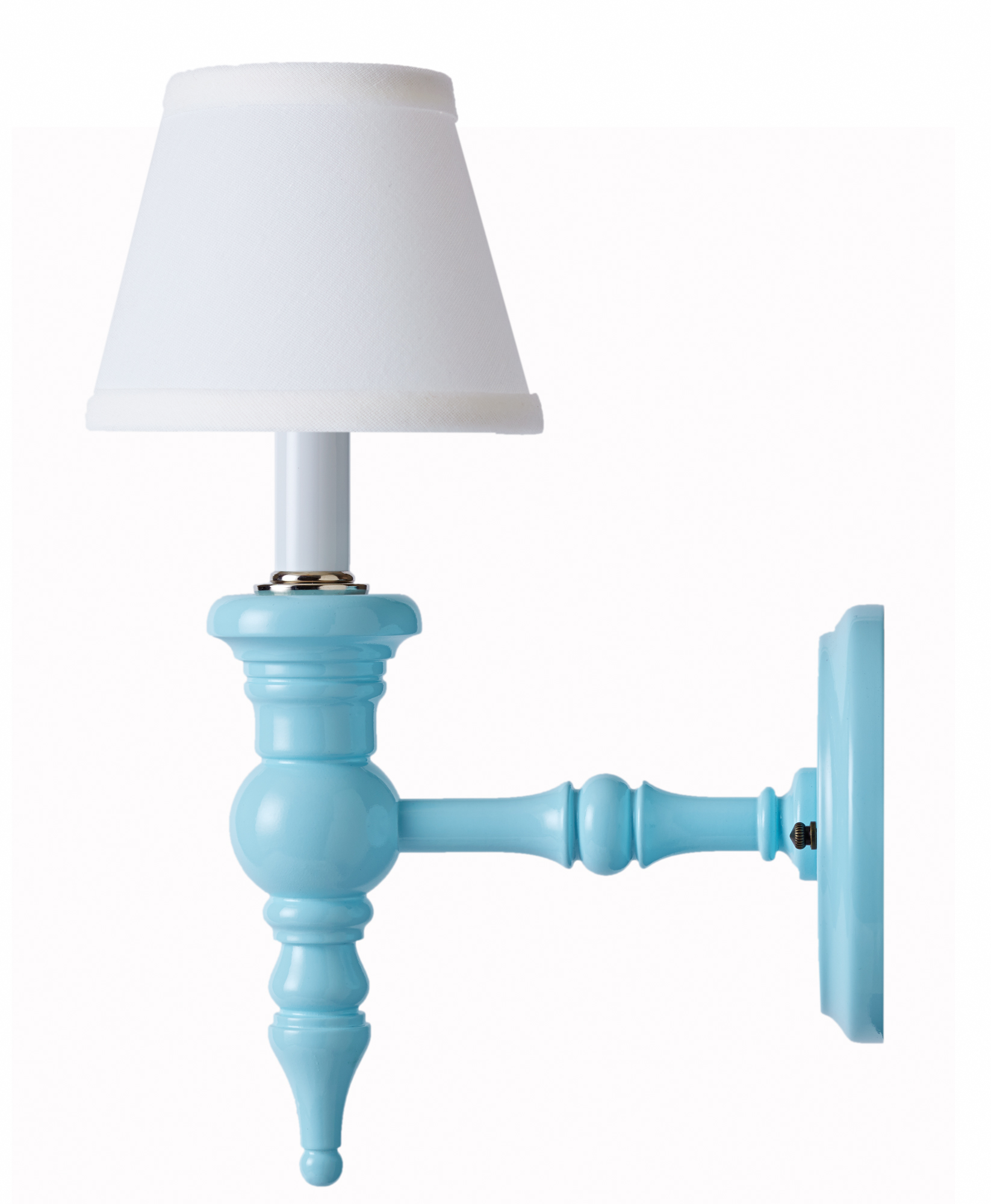 Palm Beach sconce in robin's egg blue from Dune & Duchess