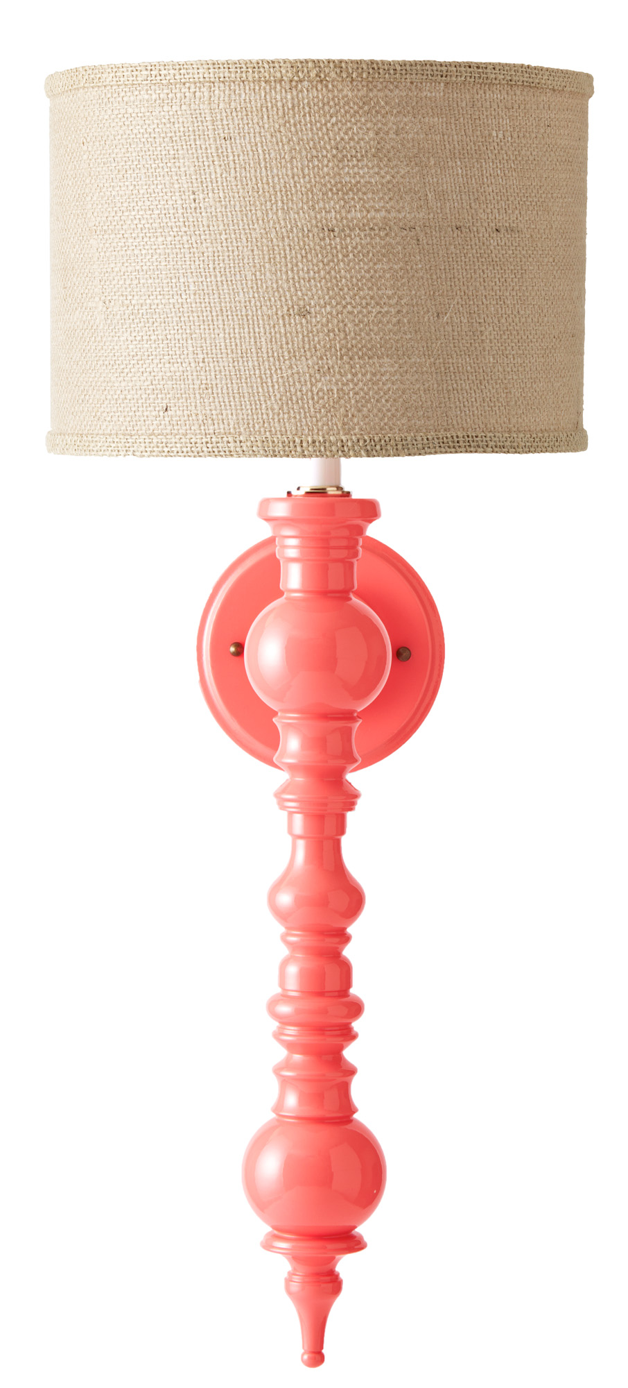Lipstick lacquered sconce from Dune & Duchess