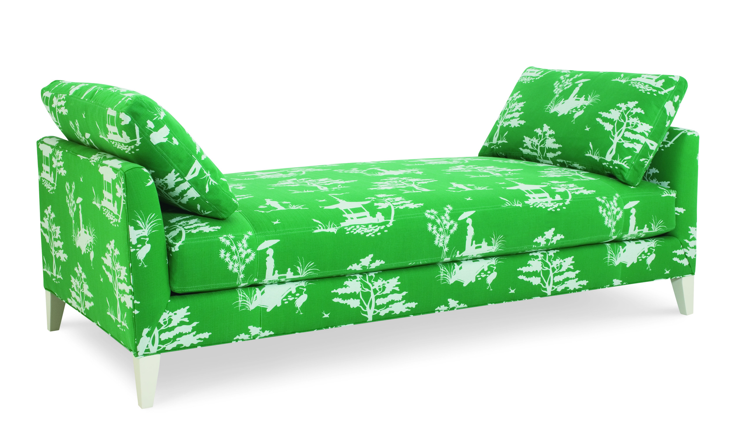 C.R. Laine's Pagoda Daybed in vibrant sping green