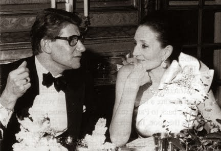 Jacqueline de Ribes with Yves St. Laurent who regarded her as one of his great muses.