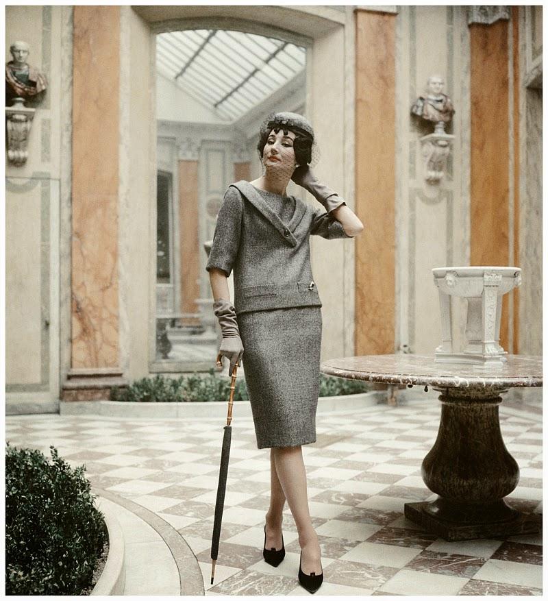 Jacqueline de Ribes modeling Christian Dior