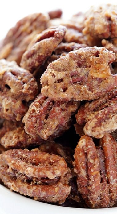 Candied pecans are perfect with cocktails, or chopped in a salad with strawberries and goat's cheese, or simply as a delicious treat with your afternoon cup of tea. The best I've found are in Charleston, SC although Savannah has a wonderful interpretation with fresh ginger.