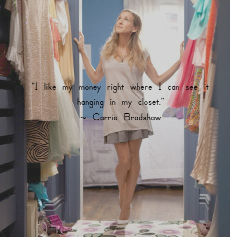 Carrie Bradshaw Dreaming of Fashion