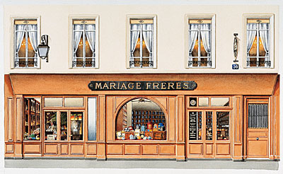 Elevation of Mariage Freres in Paris, founded in 1854 and still making splendid teas.
