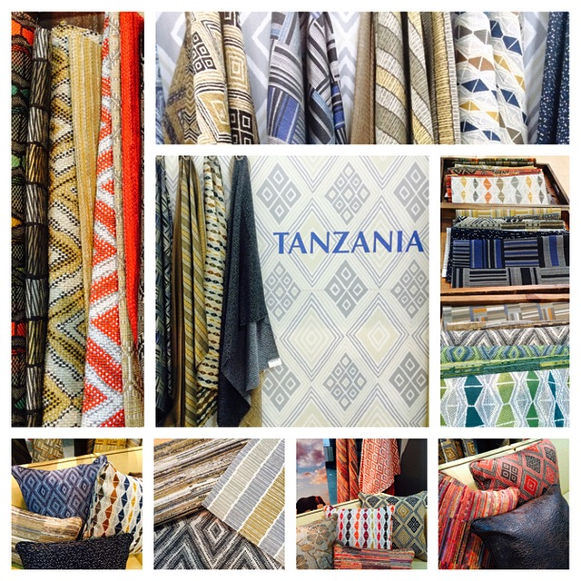 One of the standouts at the recent BDNY Event, the Tanzania Collection from Kravet by J. Banks, inspiredby traditional African Textiles.