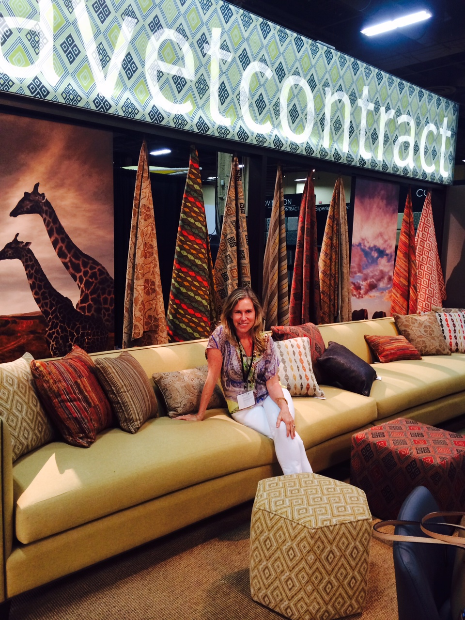 Joni Vanderslice with her Tanzania Collection
