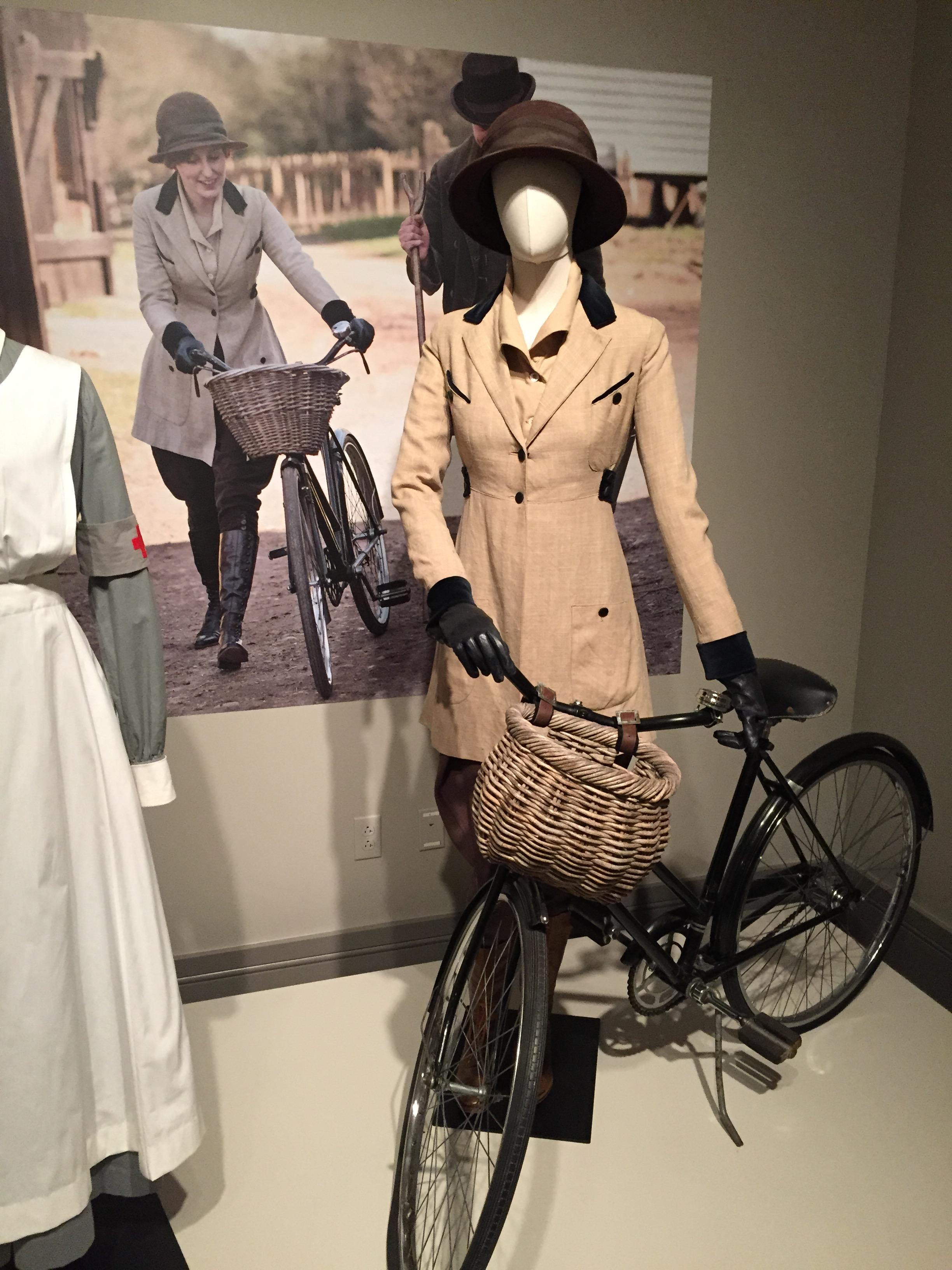 Lady Edith Crawley in her riding attire.
