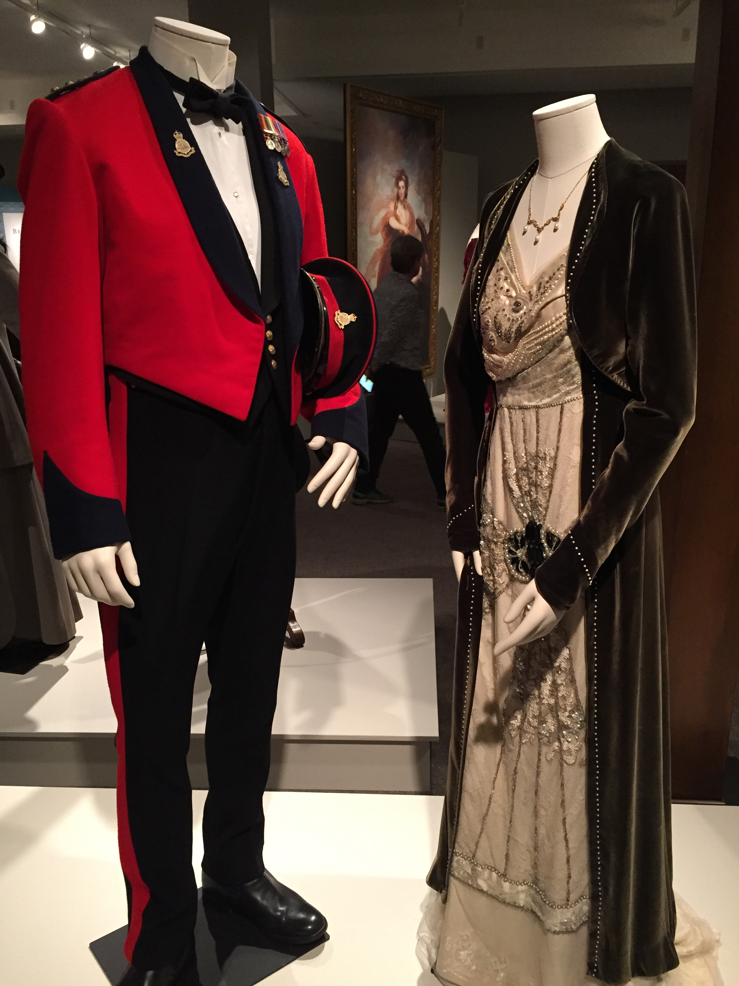 Costumes worn by Lord and Lady Grantham