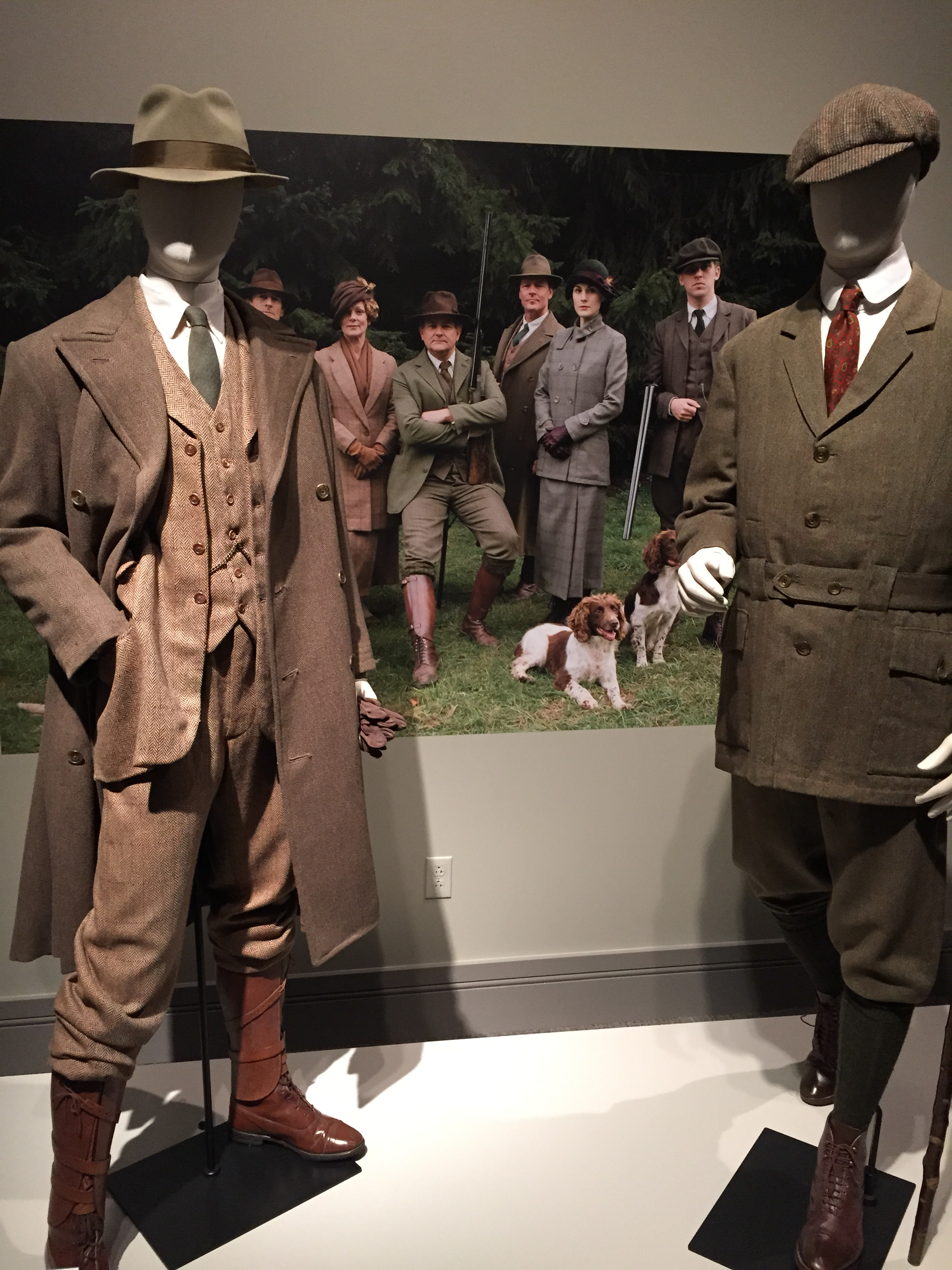 Handsome tweeds worn by the Crawley family.