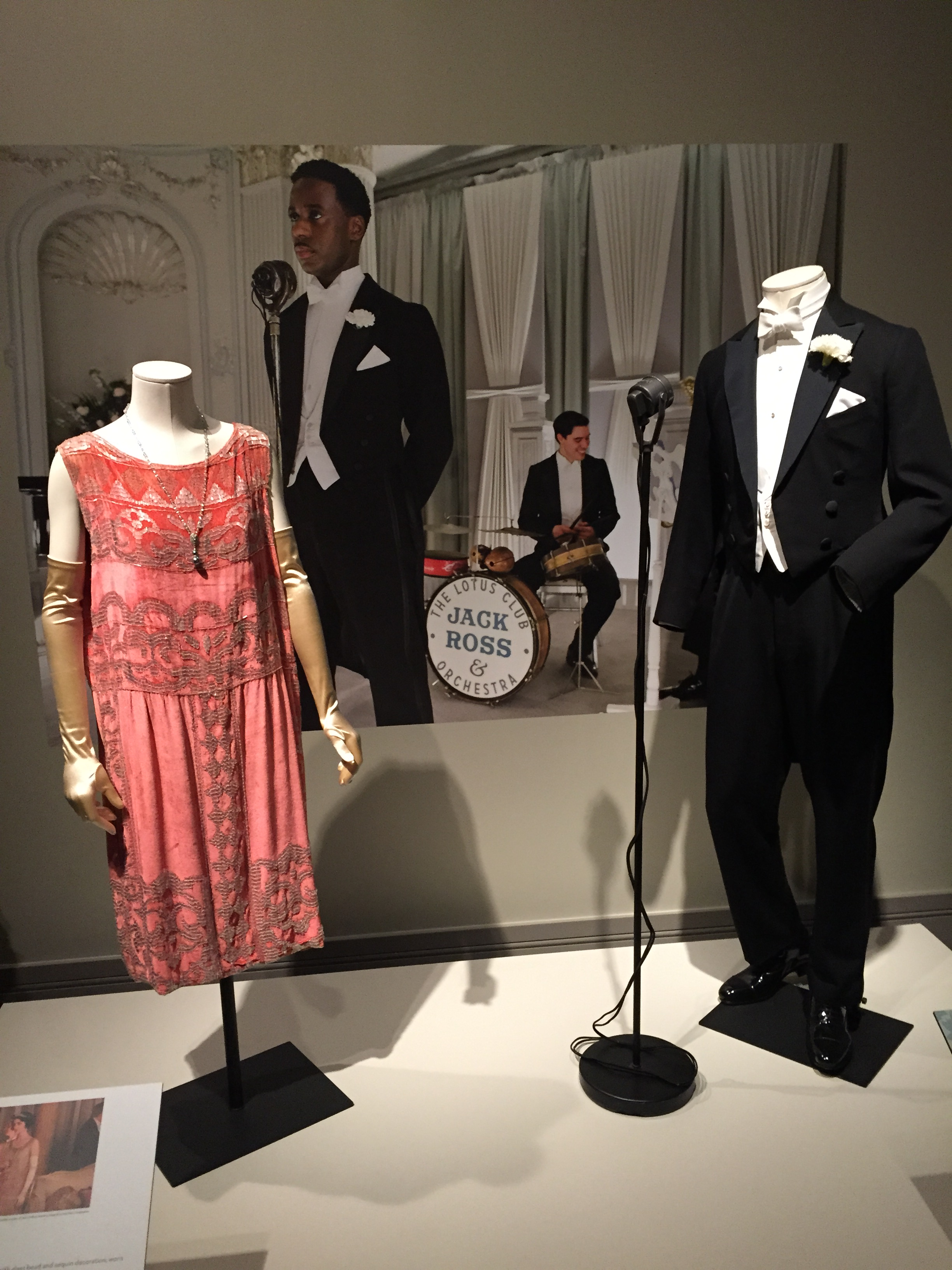 The lovely dress worn by Lady Rose MacClare when dancing to the music of Jack Ross.