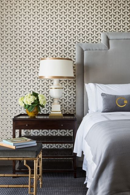 In love with the David Hicks inspired wallpaper.