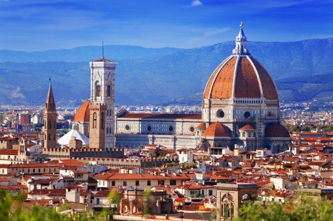 A view of the Duomo of Santa Maria del Fiore from our luxury boutique hotel, Antica Torre de Via Tornabuoni, next to Ferragamo' and on the Arno River.