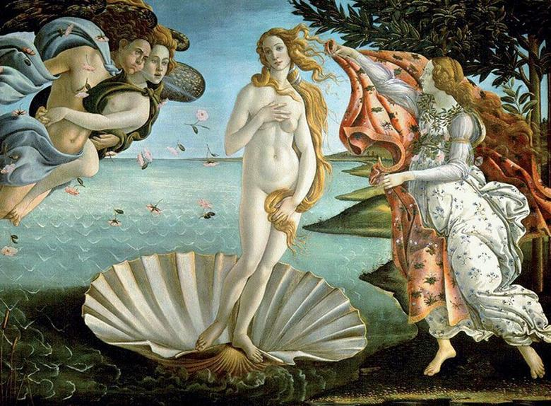 The Birth of Venus by Botticelli is one of the masterpieces we'll see on our private tour of the Uffizi Museum.