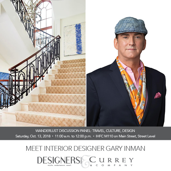 "I'm honored to moderate this star-studded group of designers. Wanderlust has been in my blood since childhood. For more details on this topic please see my feature article at http://www.highpointmarket.org/tips-and-insights/wanderlust and if you're ready for your own adventure please join me for ""Design Secrets of Tuscany"". https://www.garyinman.com/blog-feed/2018/1/1/design-olives-italian-design-in-the-heart-of-tuscany. Bon Voyage!"