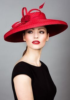 I love ending with this dramatic red hat by Rachel Trevor Morgan, design star to Britain's Royal Family.