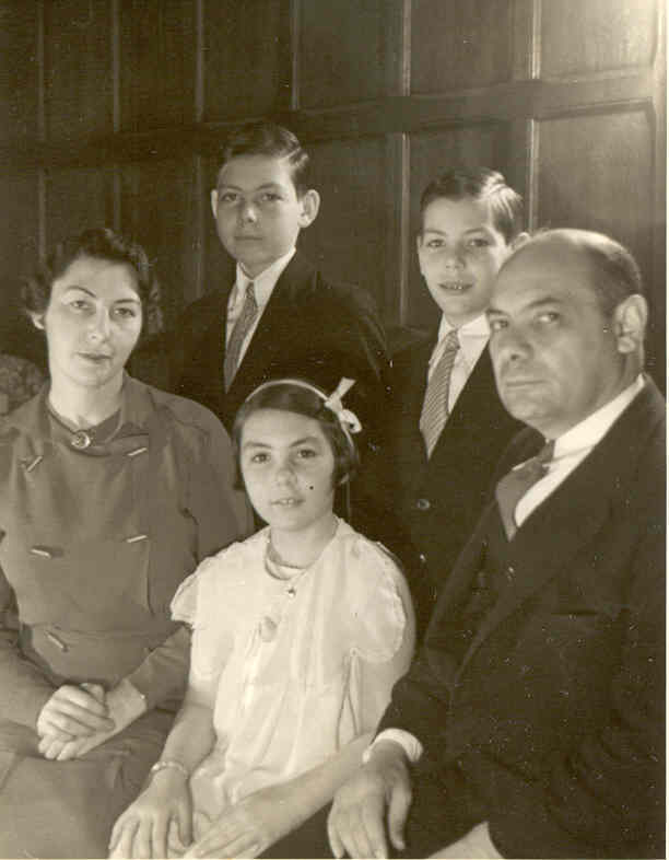 Edward grew up at 885 Park Avenue. Photographed in their library in 1936 are his mother, Amy Apfel Tishman, younger brother William and sister Barbara and his mentor, his father Alexander Tishman.