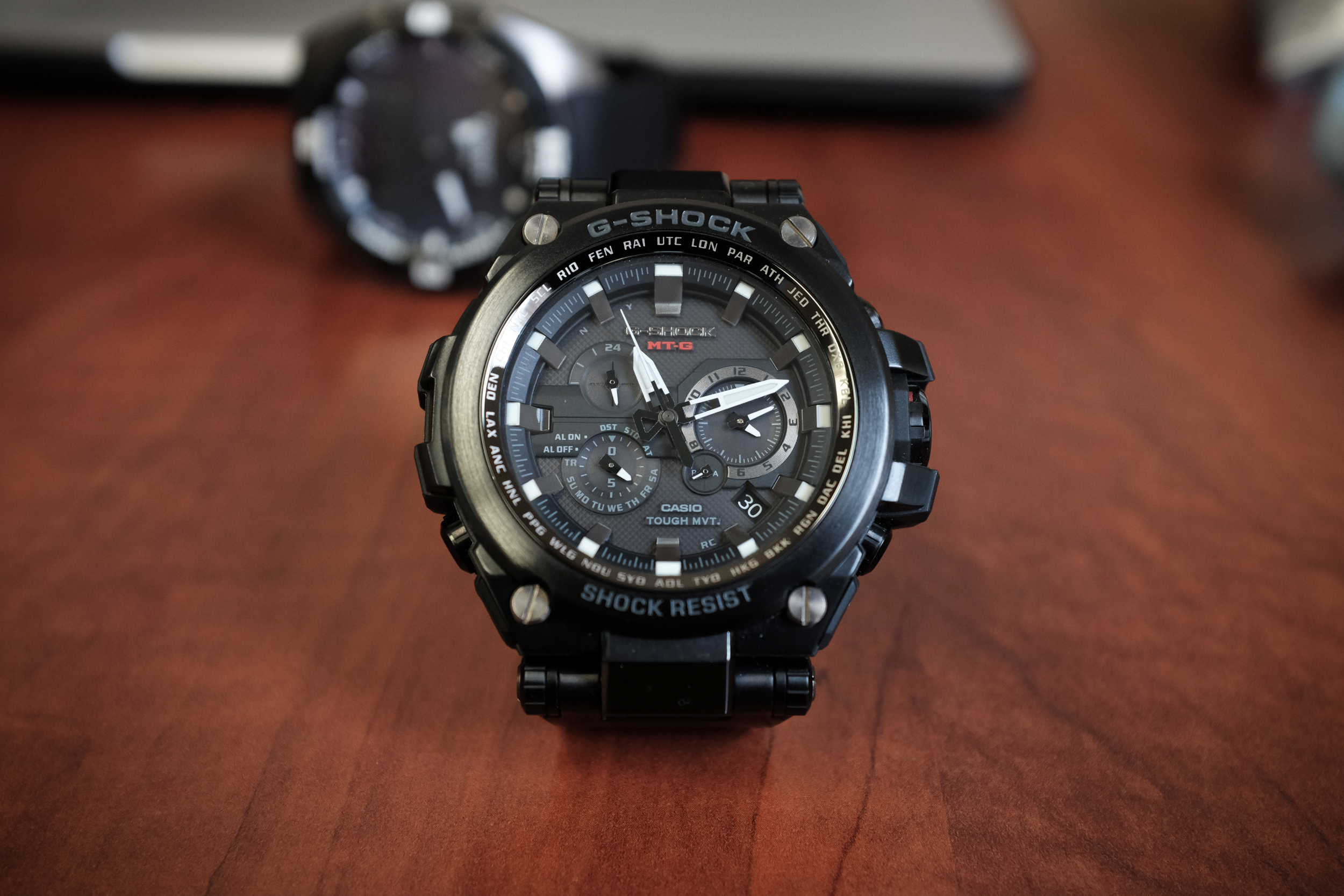 """Solar Powered, Alarm, Abunch of cities to adjust to automatically (really accurate time), Water Resist 200m, Shock Resistant, blah blah blah.... this is a frikkin mans watch. This is the watch you hike, skydive, climb mountains, fight bears and wear to take pictures of models in.  Most importantly, they won't break the bank. Both a little over $1k and will last, both physically, practically and aesthetically.  These are for the man that knows himself and likes nice stuff. Theses are conversation pieces. The watch snobs will probably look down on you... but the truth is, those are the jackasses that allow their """"geek' to override their """"chic"""". It is common in every facet of life. People become so 'into' their thing that they can't let people be dope as themselves.   The key is to be comfortable being YOU! Why go get a watch that you know nothing about and understand even less regarding the culture.   #BeDope.   P.S. All this.... until you can afford that Rolex DayDate or IWC Big Pilot... then go get it!!!!! They are definitely awesome!!!!"""
