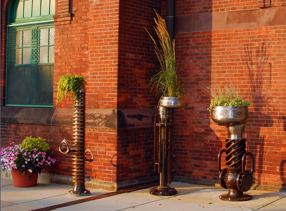 Bike Rack Planters.  York, PA.