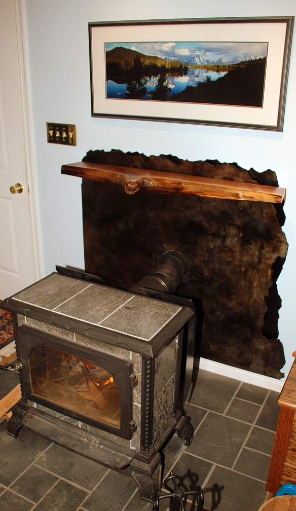 Wood Stove Mantle