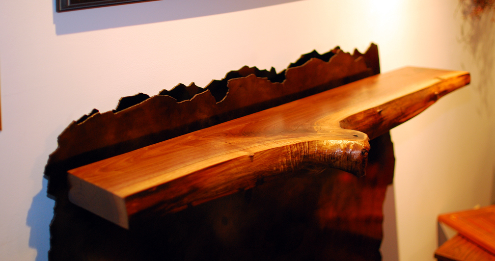 Wood Stove Mantle Detail