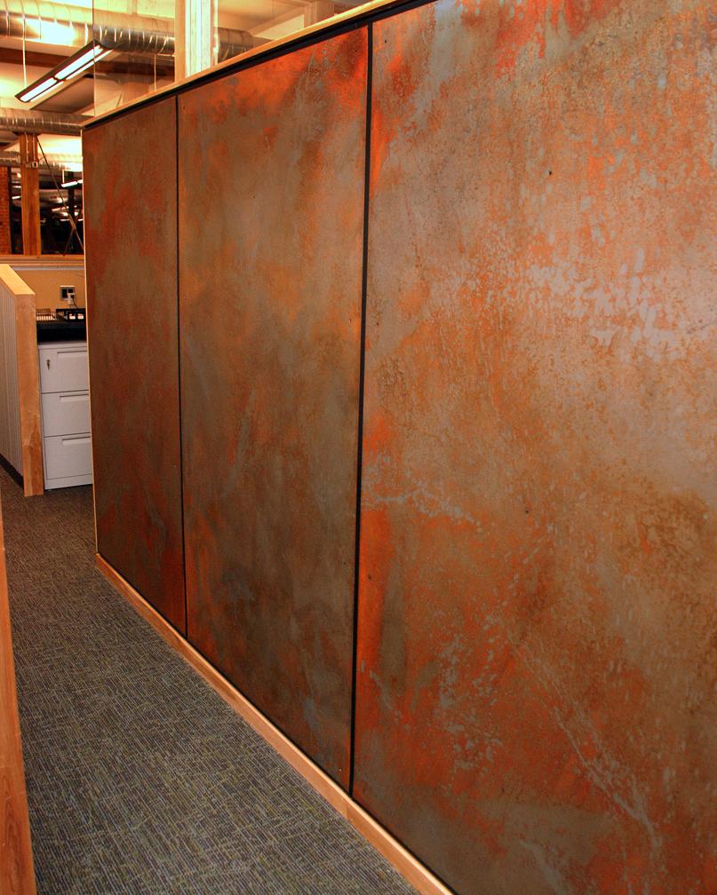 Wall Panels-Custom Patination