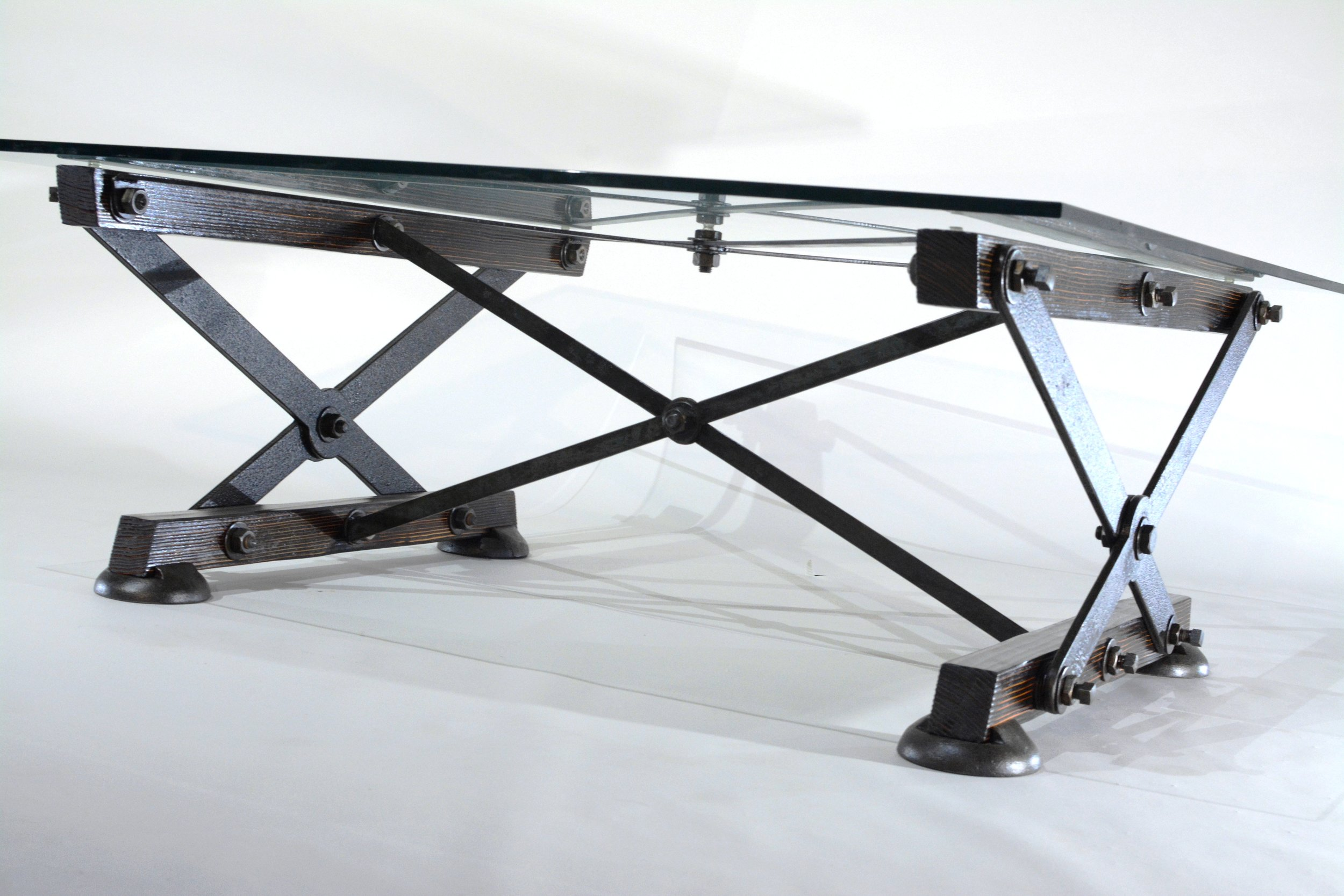 Industrial Coffee Table - Overarm B