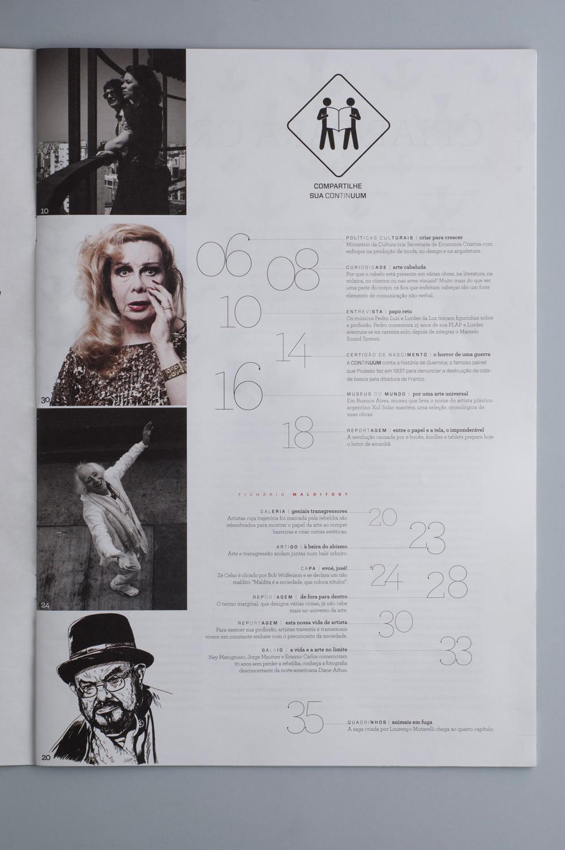 Revista Continuum 33 | miolo (detalhe)