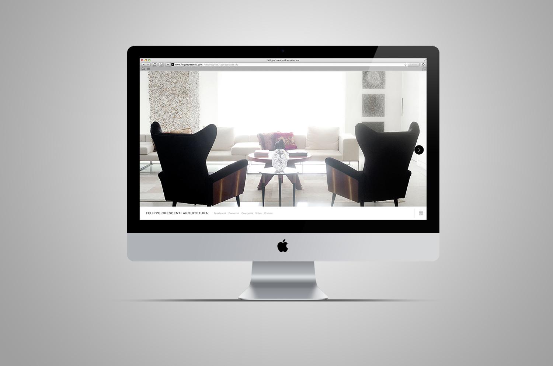 website felippe crescenti arquitetura