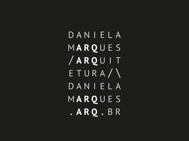DANIELA MARQUES | LOGO COMPLETO INVERTIDO