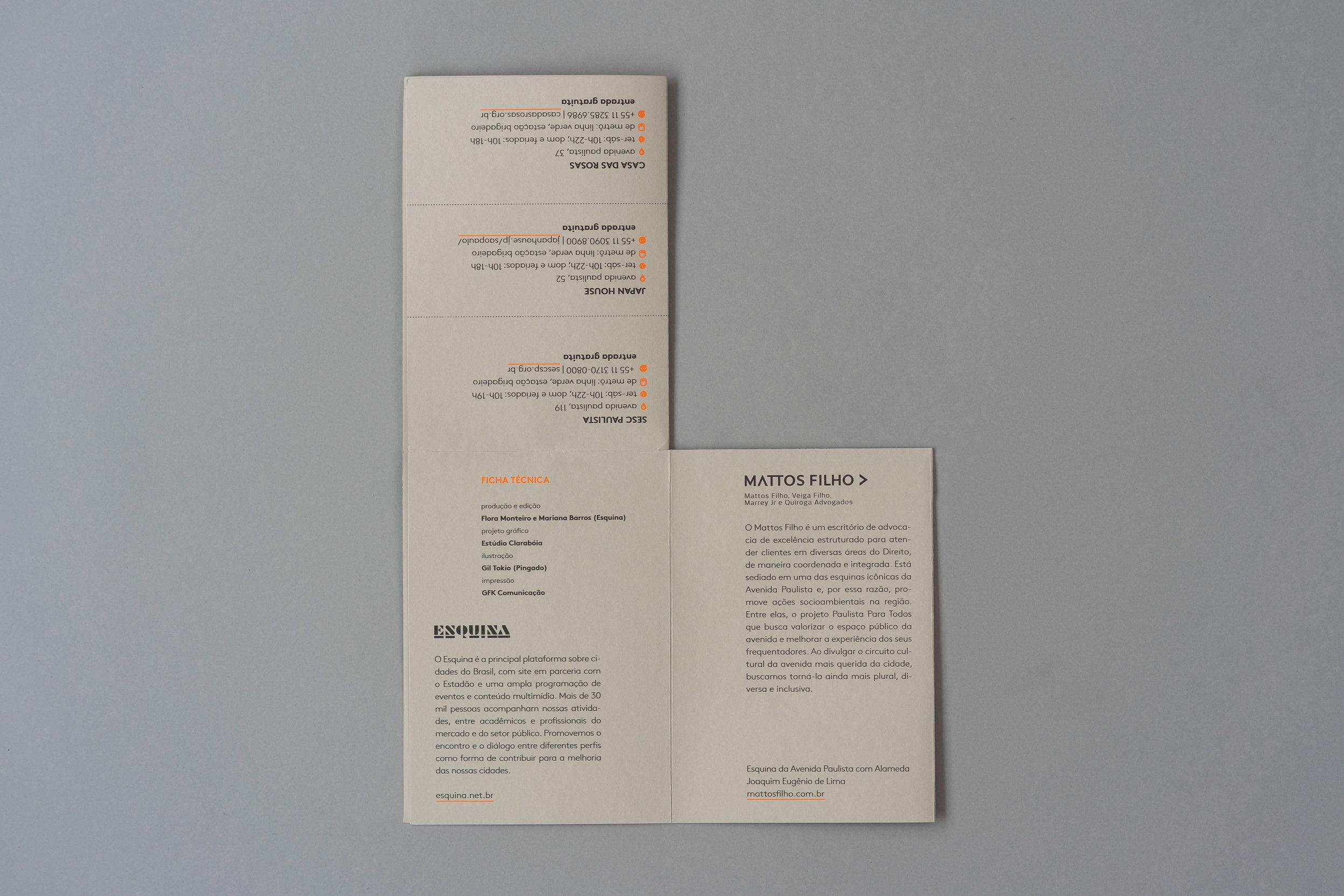 Folder/cartaz Paulista para todos