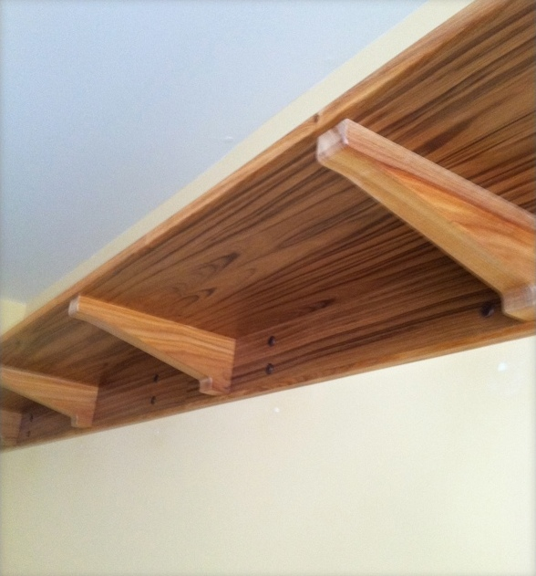 Wall Shelf in Teak and Canarywood