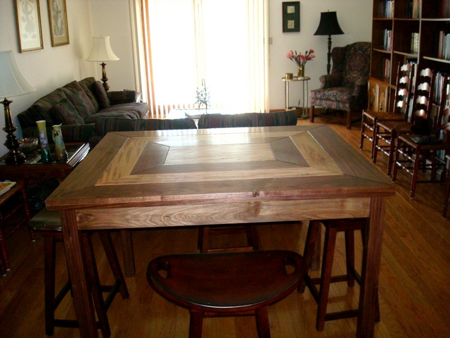 Dining Table in Walnut & Ambrosia Maple