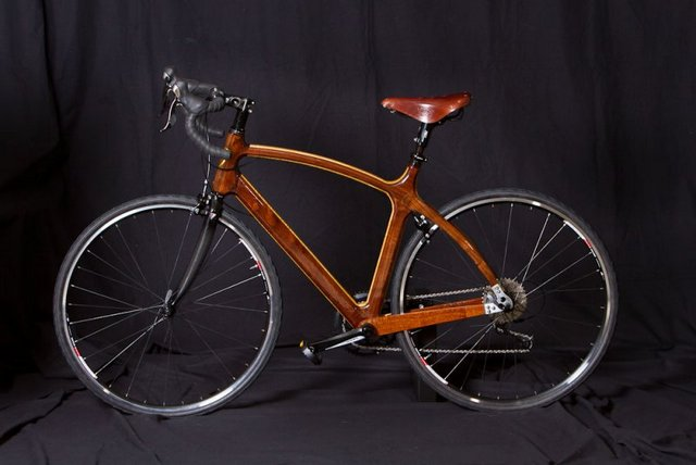 Road Bicycle in Mixed Exotic Hardwoods