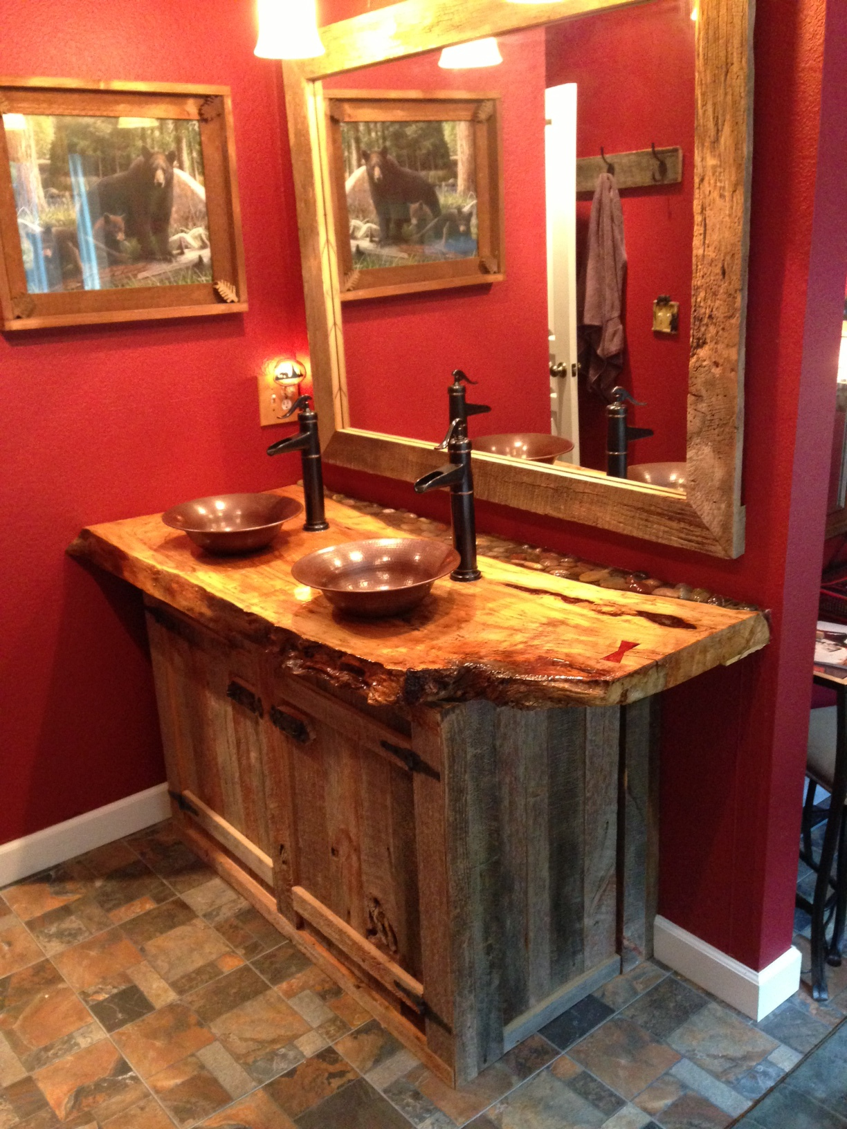 Bathroom Vanity in Spalted Maple & Barnwood