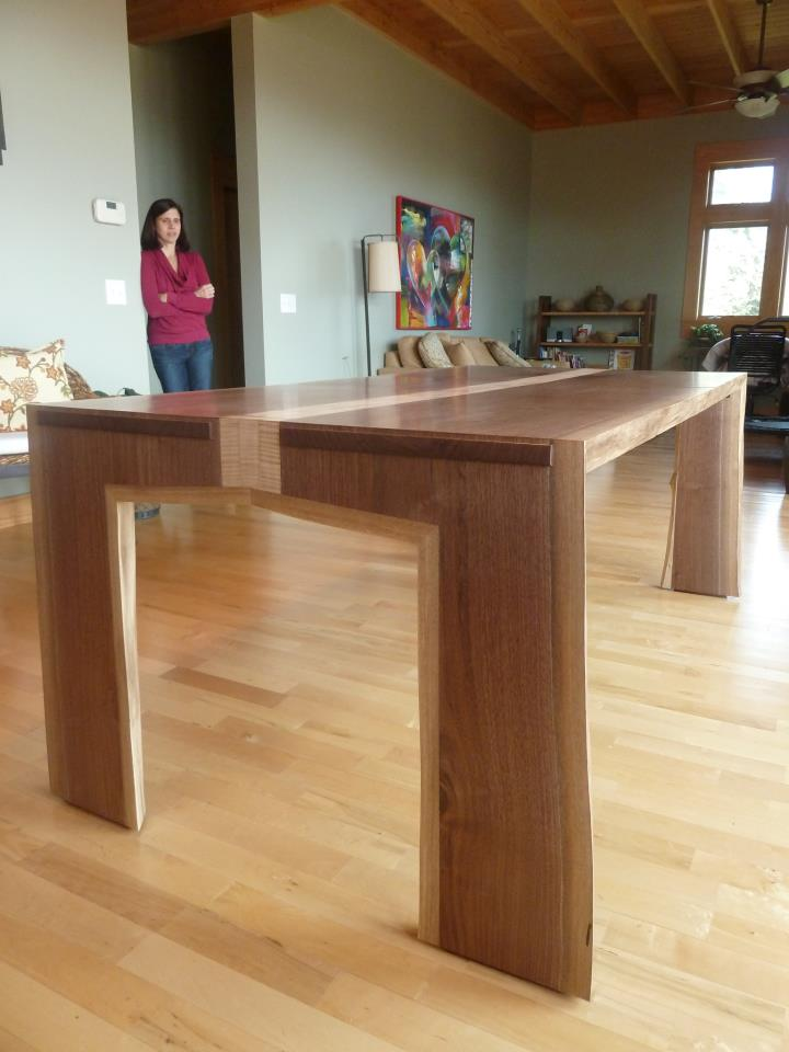 Dining Table In Walnut & Maple