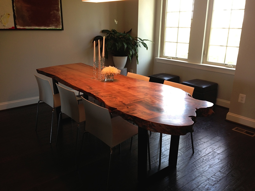 Live Edge Dining Table in Spalted Maple