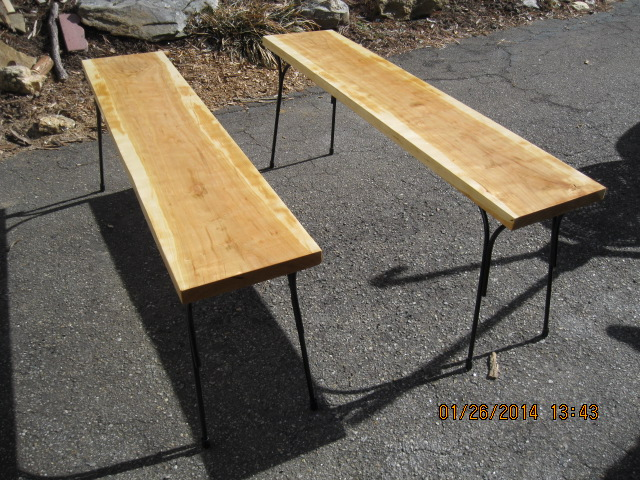 Pair Of Benches In Cherry