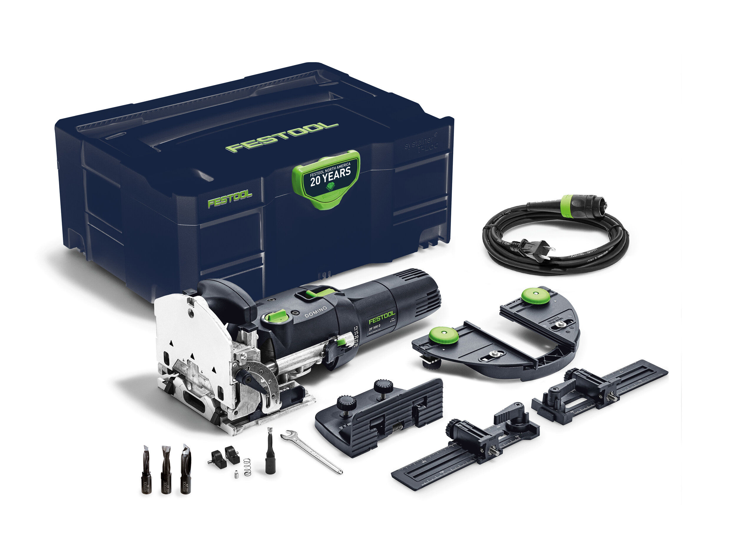 - Domino DF 500 $1,040Includes D6, D8 and D10 CuttersThe Domino DF 500 Emerald Edition includes the Emerald Blue Systainer, D6, D8 and D10 Cutters, a $136 value.