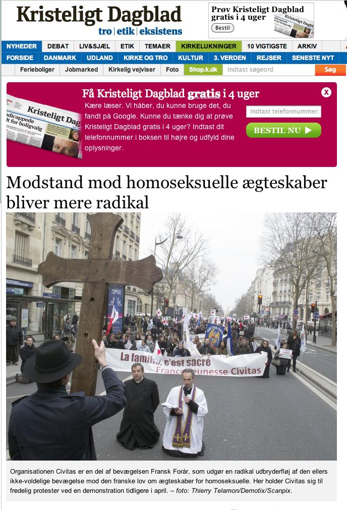 Kirsteligt Dagblad Newspaper - April 2013
