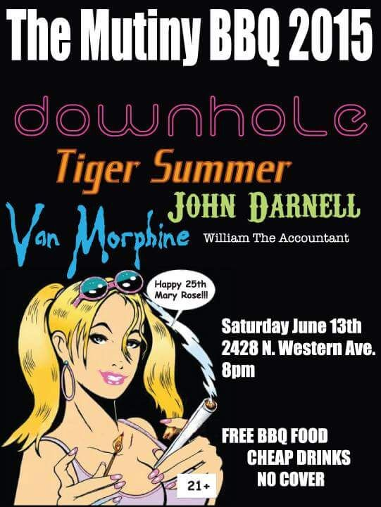 JOHNNY D PLAYING THE MUTINY IN CHICAGO SATURDAY JUNE 13th!