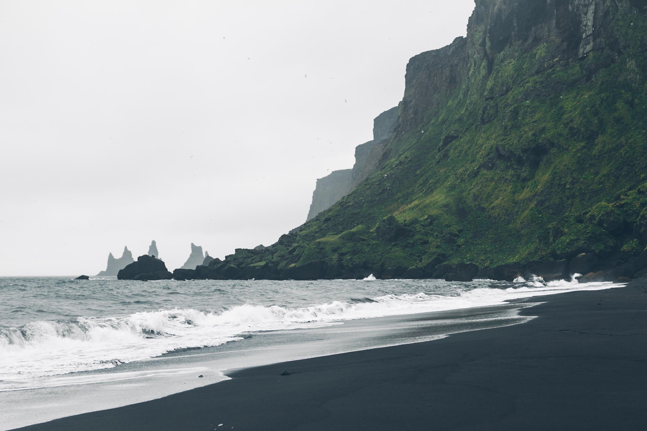 Black Sand Beach in Vík í Mýrdal
