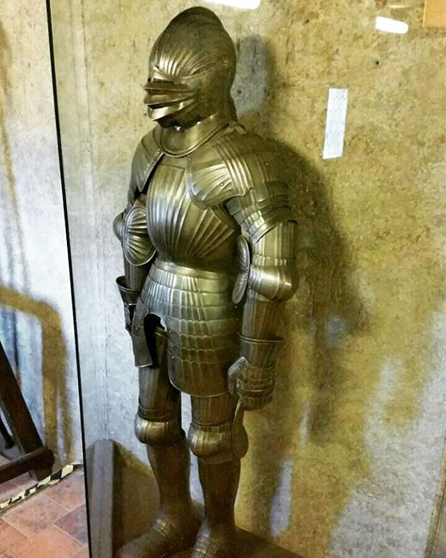 The armourers walk in the Golden  Lane, Prague Castle. One long corridor of arms and armour. I think these are reproductions for tourists like me. But someone had to make all these. I've loved armour since I was a kid. I would find a reason to wear it all the time of I had some