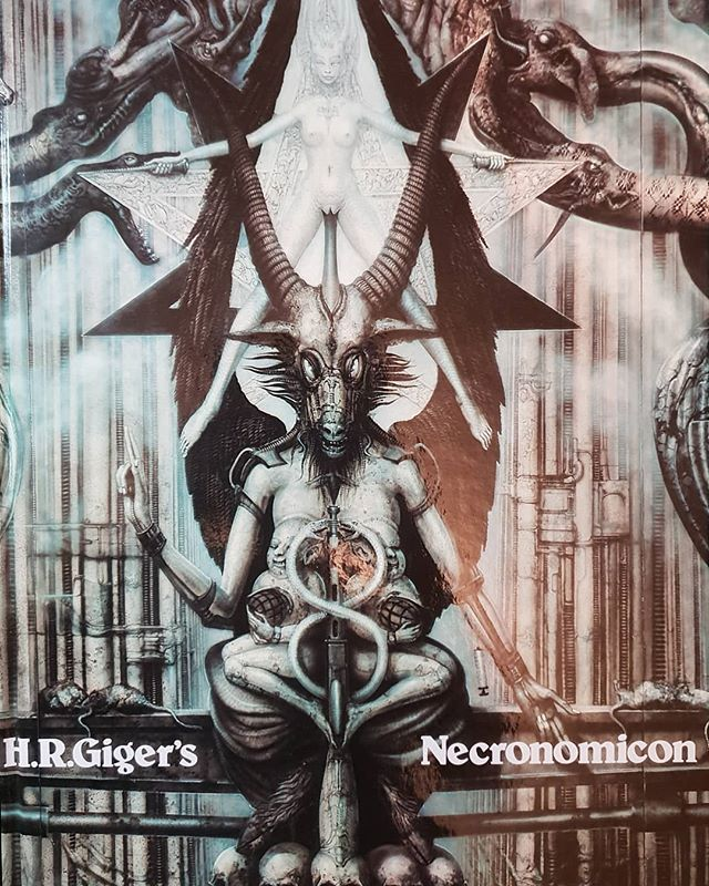 My favourite book of all time. I remember the shock and awe the first time I saw it. Still blows me away when I look through it. The first prints were in German, I had no idea what it said, so no context made it more sacred. The second book to make the biggest impact on me after Subway Art. Long live Giger