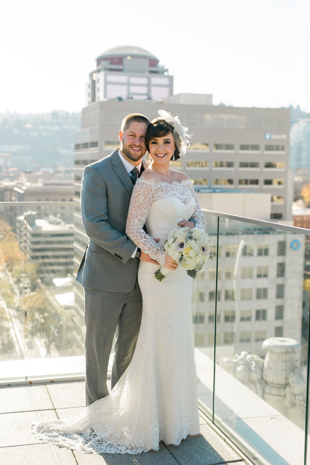 the-nines-rooftop-wedding-portland-oregon-cityscape-bride-and-groom-shelley-marie-photo-1
