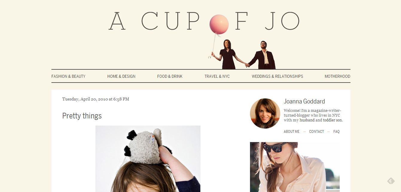 A Cup of Jo: Prety Things Favor Jewelry