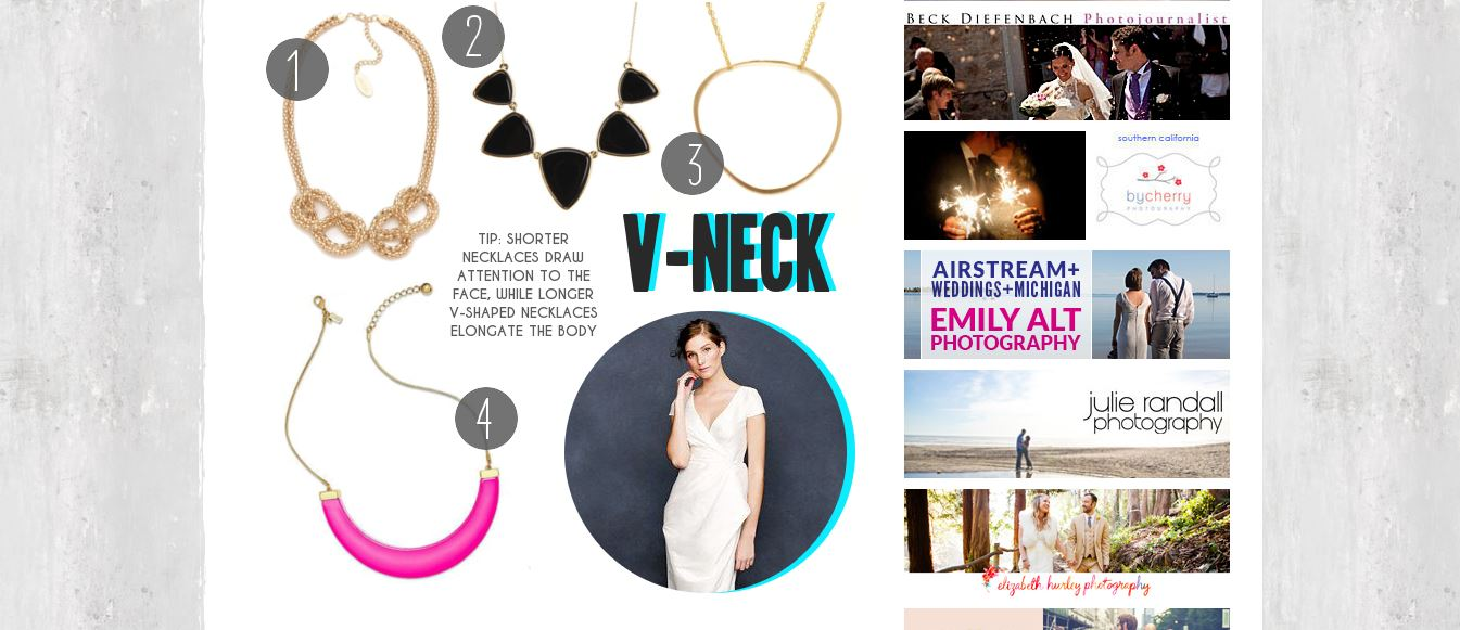A Practical Wedding V-Neck Jewelry