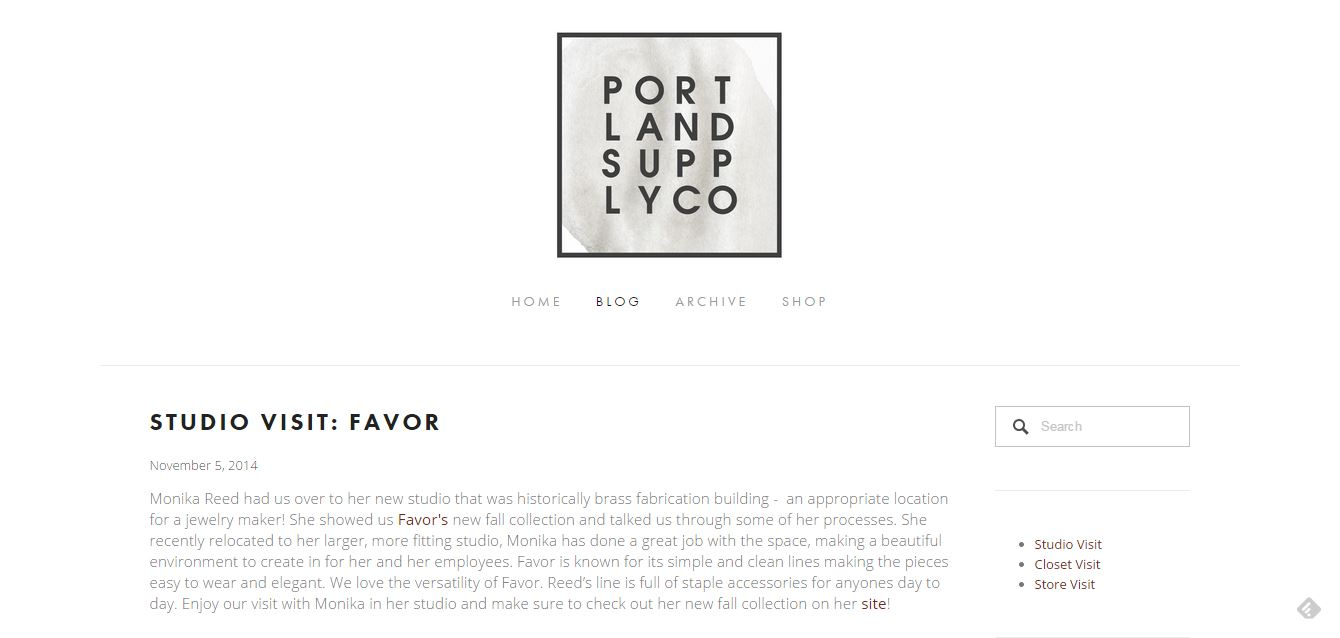Portland Supply Company Studio Visit with Favor