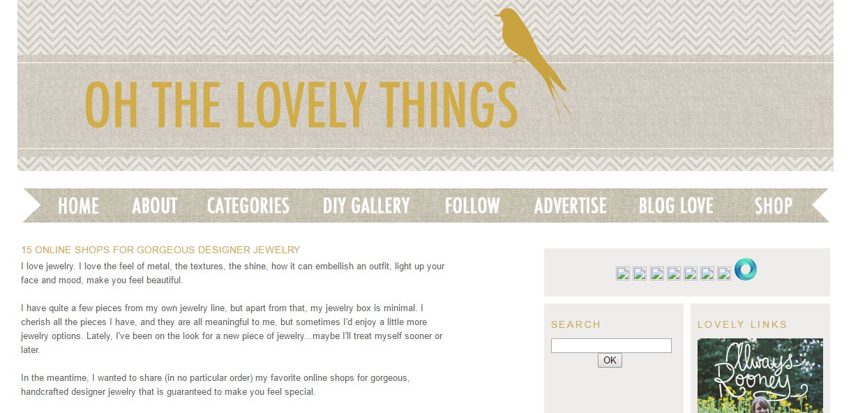 Online Shops for Gorgeous Designers by Oh the Lovely Things